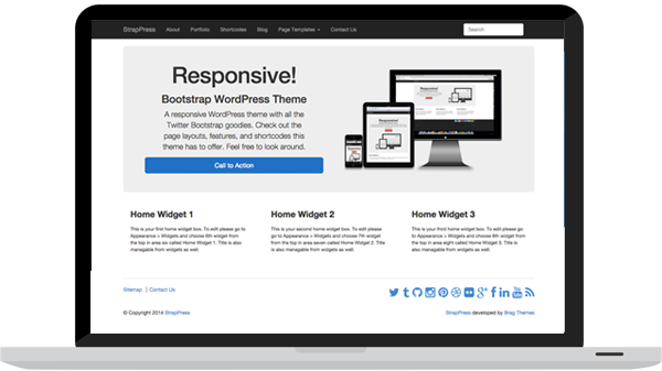 StrapPress - Bootstrap WordPress Theme