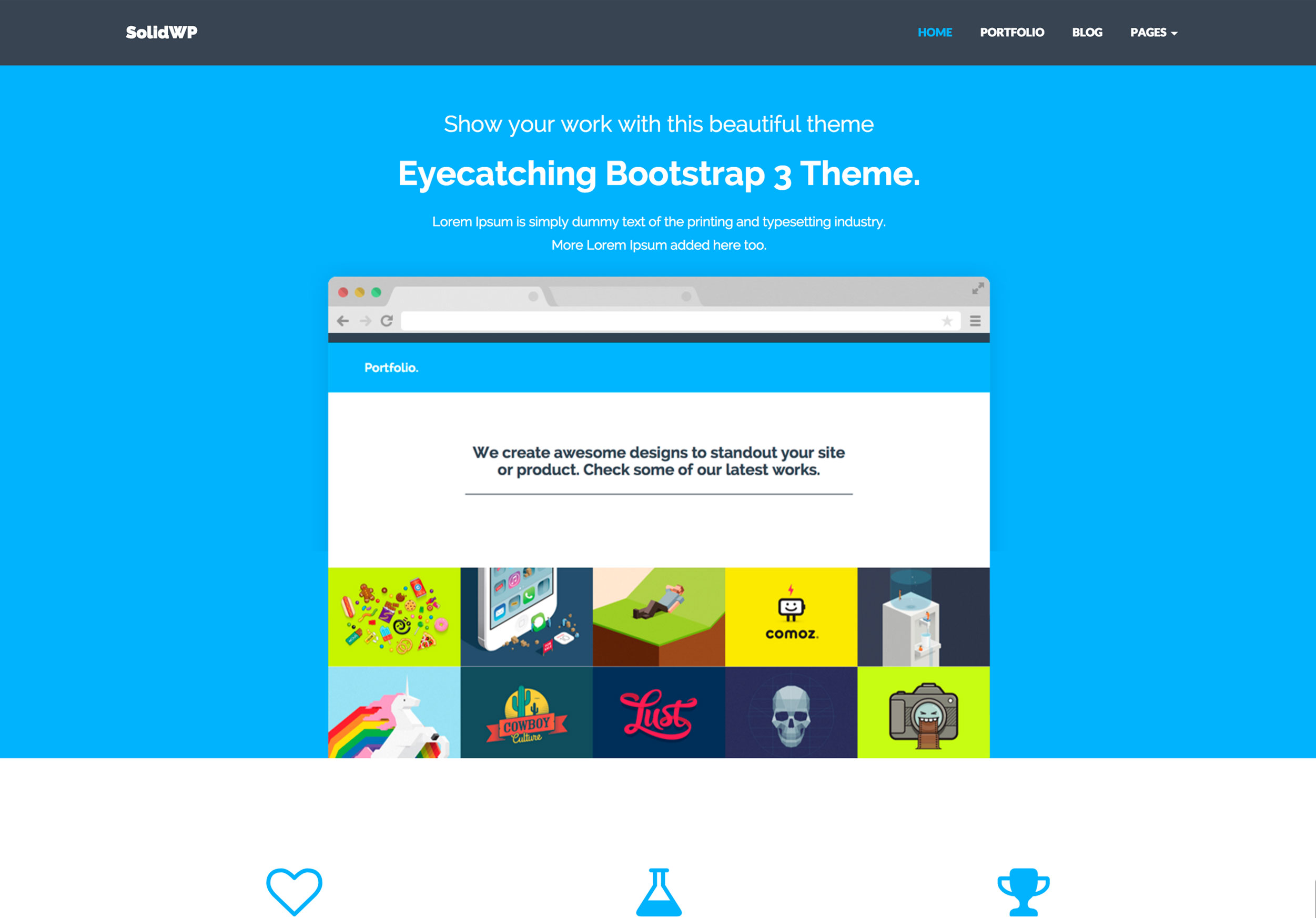 SolidWP - Bootstrap WordPress Theme